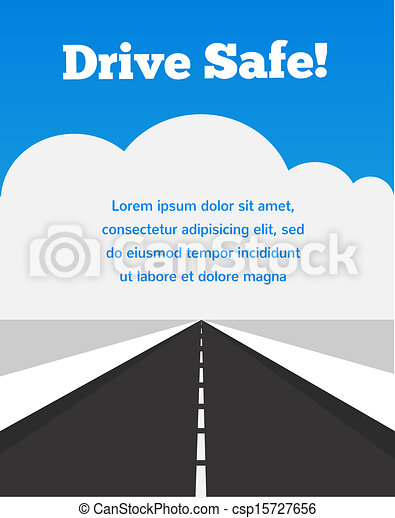 drive carefully at winter time - csp15727656