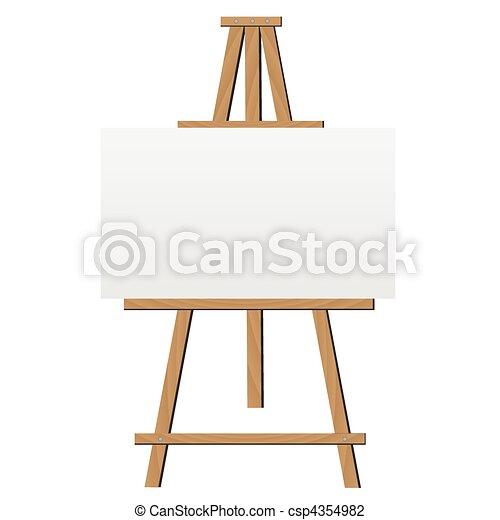 Easel Illustration - csp4354982
