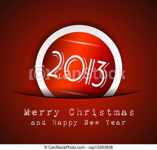 Elegant Classic Christmas Background - csp13303838
