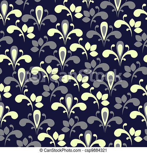 Elegant floral seamless background - csp9884321