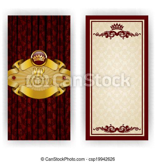 Elegant template for vip luxury invitation - csp19942626