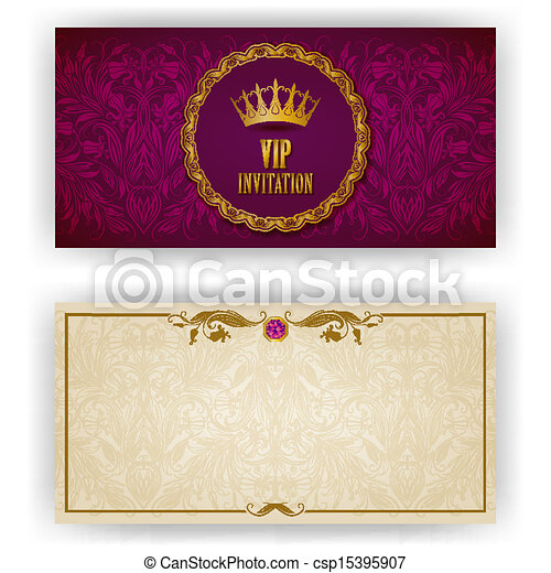 Elegant template for vip luxury invitation - csp15395907