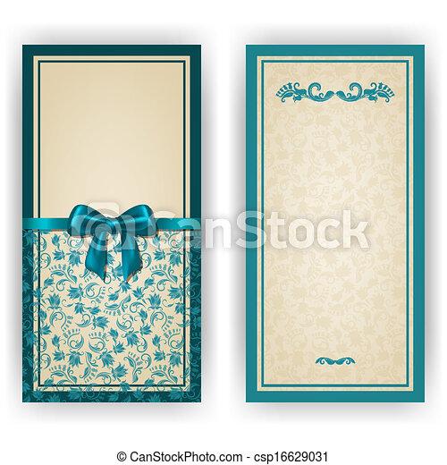 Elegant vector template for luxury invitation, card - csp16629031