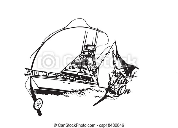 Fish ON Vector - csp18482846