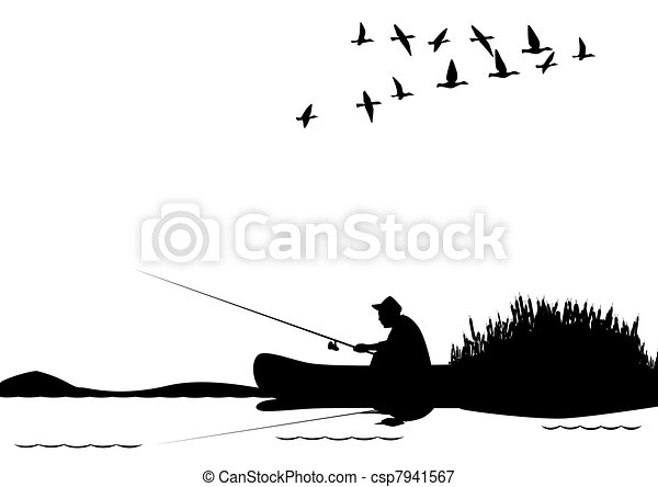 Fishing from a boat - csp7941567