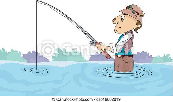 Fishing Man - csp16862819