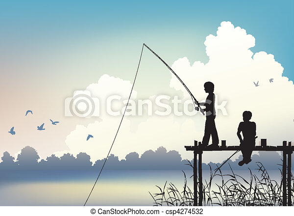 Fishing scene - csp4274532