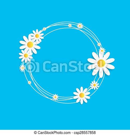 Flora Daisyl Design Vector Illustartion - csp28557858