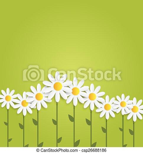 Flora Daisyl Design Vector Illustartion - csp26688186