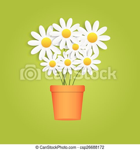 Flora Daisyl Design Vector Illustartion - csp26688172