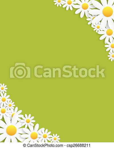 Flora Daisyl Design Vector Illustartion - csp26688211
