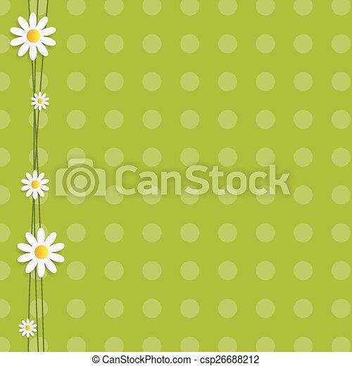 Flora Daisyl Design Vector Illustartion - csp26688212