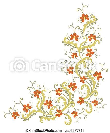 floral corner - csp6877316