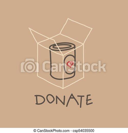Food Drive charity movement, vector illustration - csp54035500