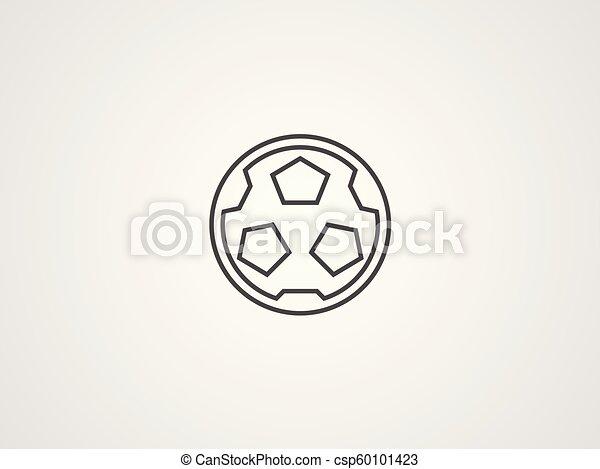 Football vector icon - csp60101423