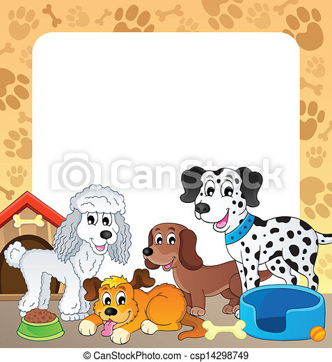 Frame with dog theme 1 - csp14298749