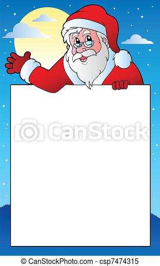 Frame with Santa Claus theme 1 - csp7474315