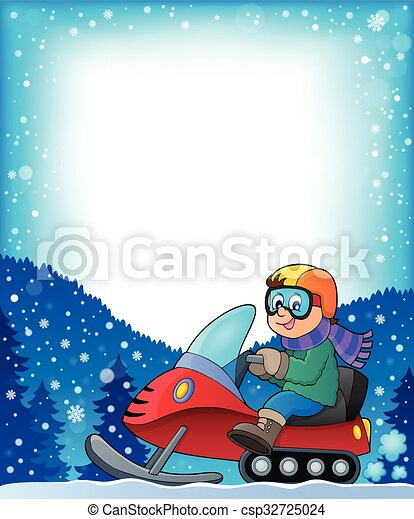 Frame with snowmobile theme 1 - csp32725024