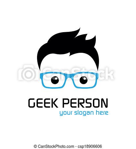Geek style logo template. - csp18906606