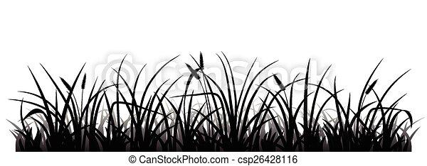 Grass silhouette - csp26428116