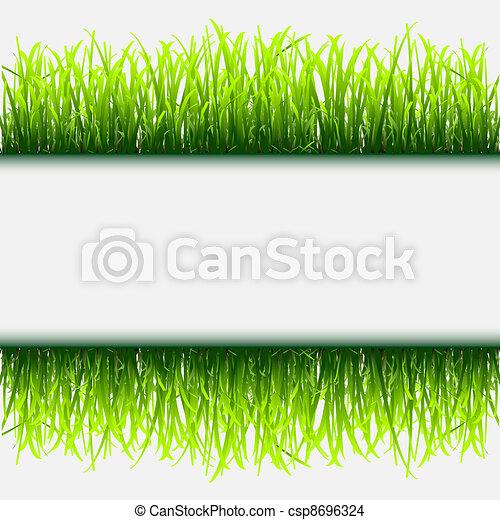 Green grass frame - csp8696324