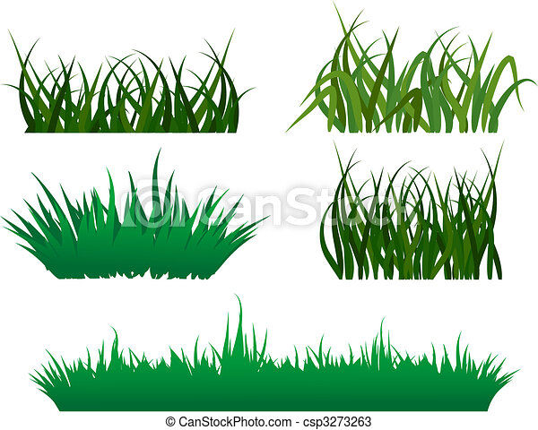 Green grass patterns - csp3273263
