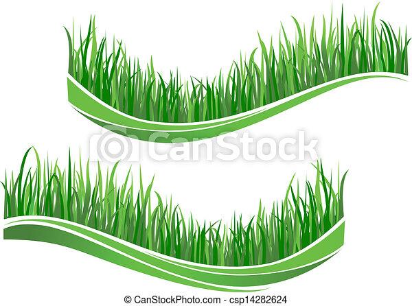 Green grass waves - csp14282624