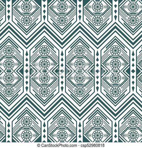 Greyscale Vintage Pattern - csp52980818