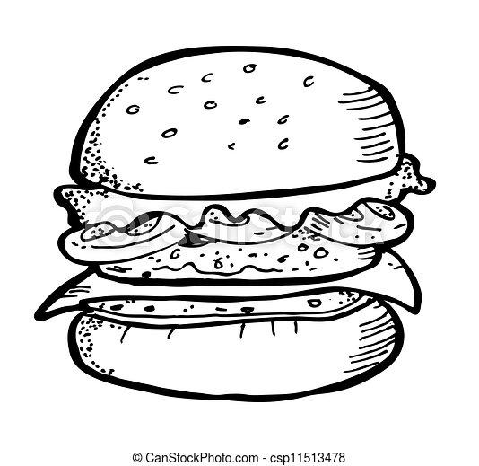 hamburger doodle - csp11513478