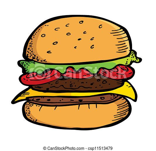 hamburger doodle - csp11513479