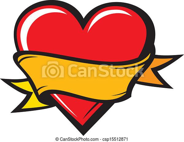 Heart - tattoo style - csp15512871