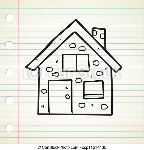 house doodle - csp11514430