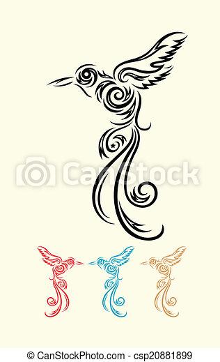 Humming bird. - csp20881899