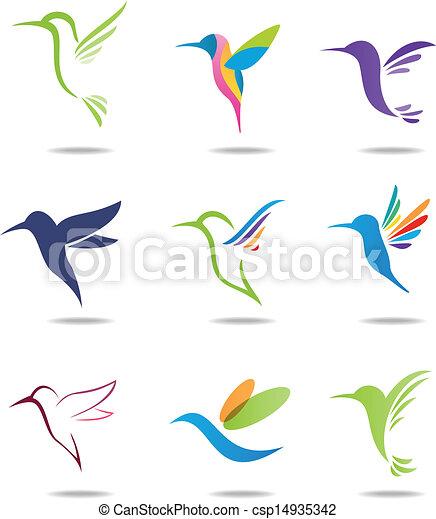 Hummingbird logo - csp14935342