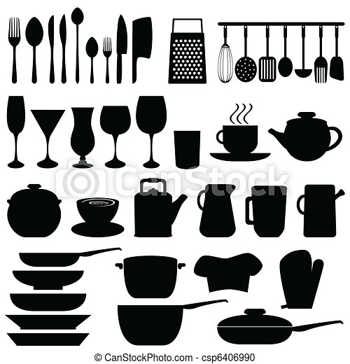 Kitchen utensils and objects - csp6406990