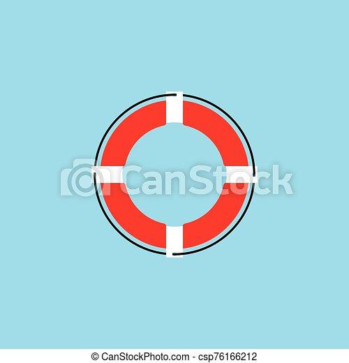 Lifebuoy logo icon vector ilustration - csp76166212