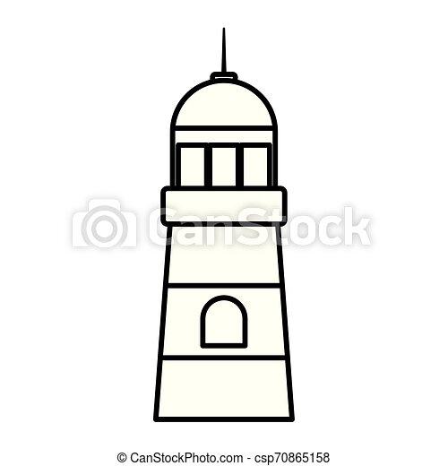 lighthouse sea maritime isolated icon - csp70865158