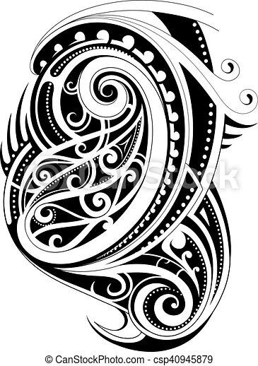 Maori style tattoo - csp40945879
