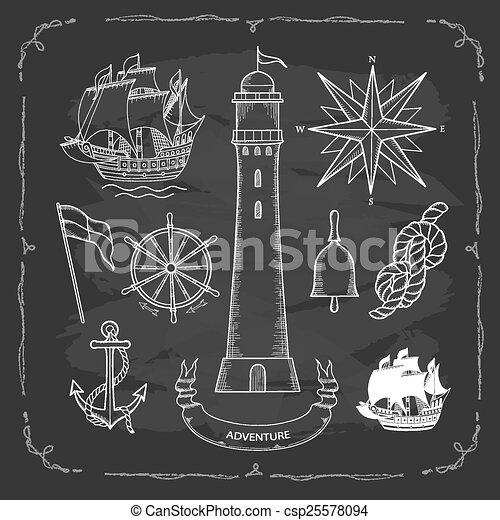 maritime maps - csp25578094