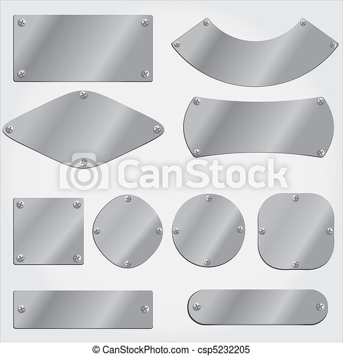 metal plates set, grouped objects, - csp5232205