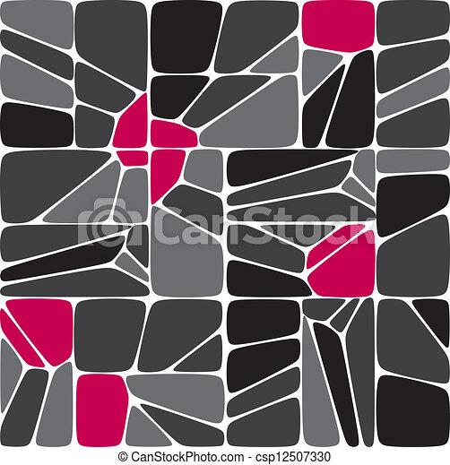Mix seamless mosaic pattern - csp12507330