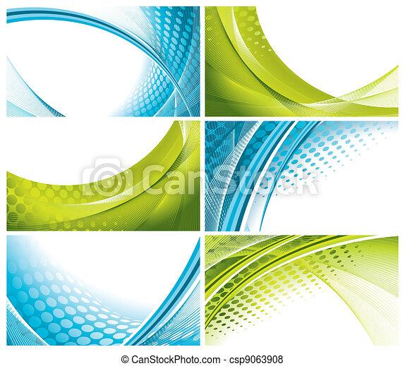 modern, elegant business cards - csp9063908