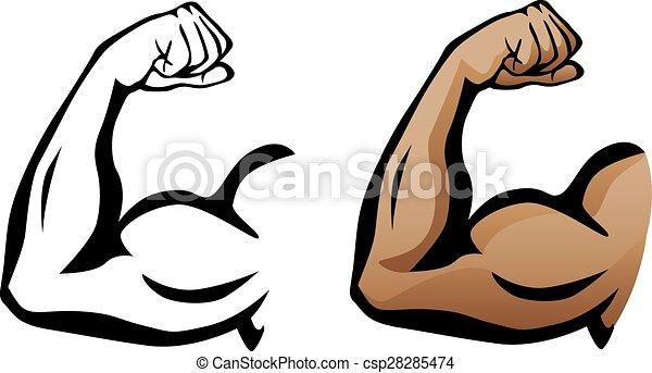 Muscular Arm Flexing Bicep - csp28285474