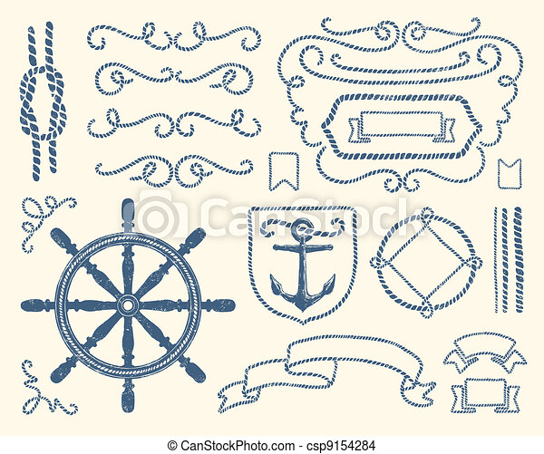 Nautical decoration set - csp9154284
