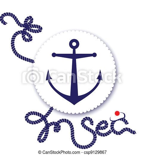 Nautical design, anchor - csp9129867