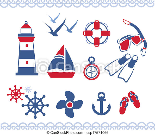 nautical icons - csp17571066