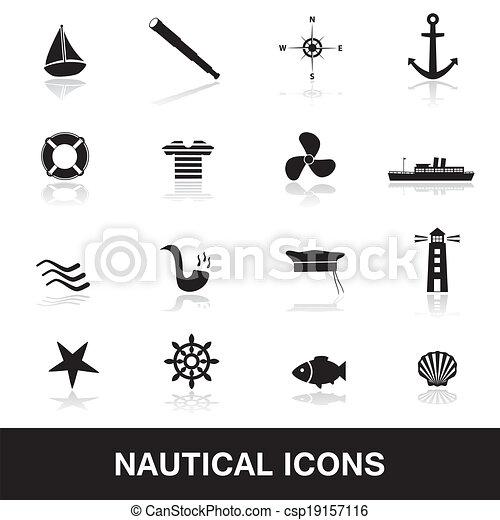 nautical icons eps10 - csp19157116
