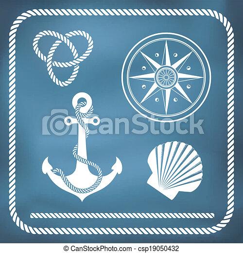 Nautical symbols - csp19050432