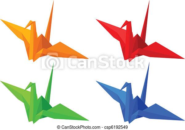 Origami Birds - csp6192549