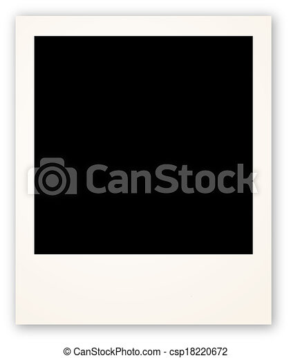 Polaroid frame for your object - csp18220672